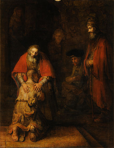 """""""Den bortkomne sønns hjemkomst"""" av Rembrandt"""
