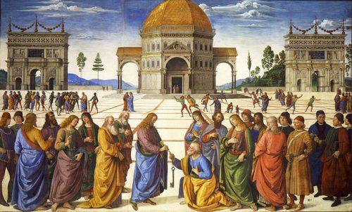 Jesus overrekker nøklene til St. Peter